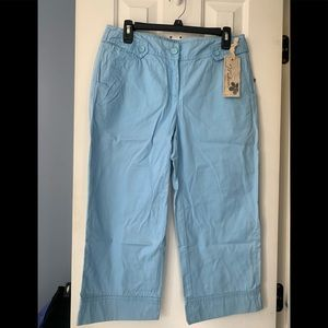 NWT Madison light blue crops A007